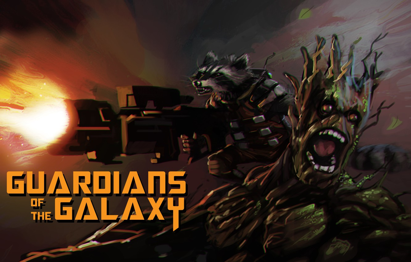 Wallpaper Rocket Raccoon Guardians Of The Galaxy Groot Images For