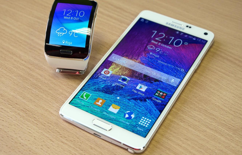 Фотообои Samsung, Samsung Gear S, SmartPad, часы-телефон, смартфон-часы, Galaxy Note 4