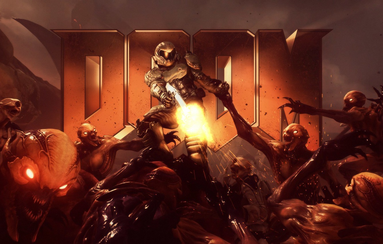 Wallpaper The Game Legend Art Game Return Shooter Doom Doom