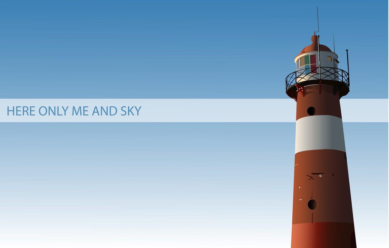 Photo wallpaper minimalism, vector, Lighthouse