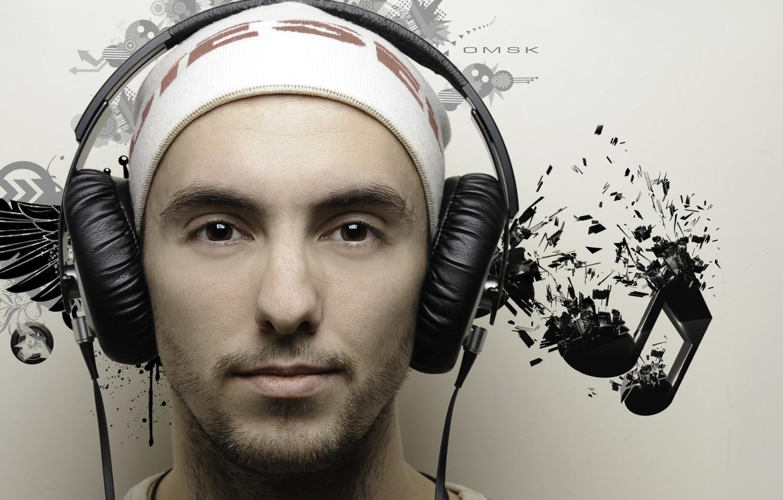 Photo wallpaper music, people, headphones