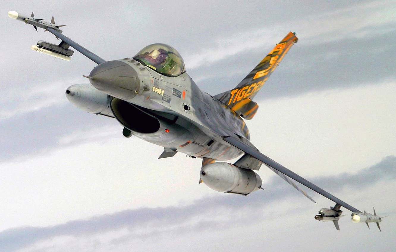 Photo wallpaper F-16, Fighting Falcon, UNITED STATES AIR FORCE, General Dynamics, multi-role fighter