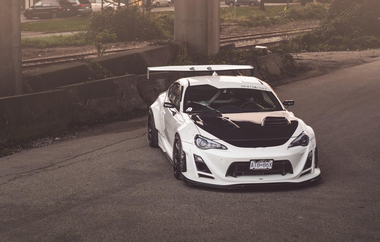 Photo wallpaper Toyota, White, Tuning, GT-86
