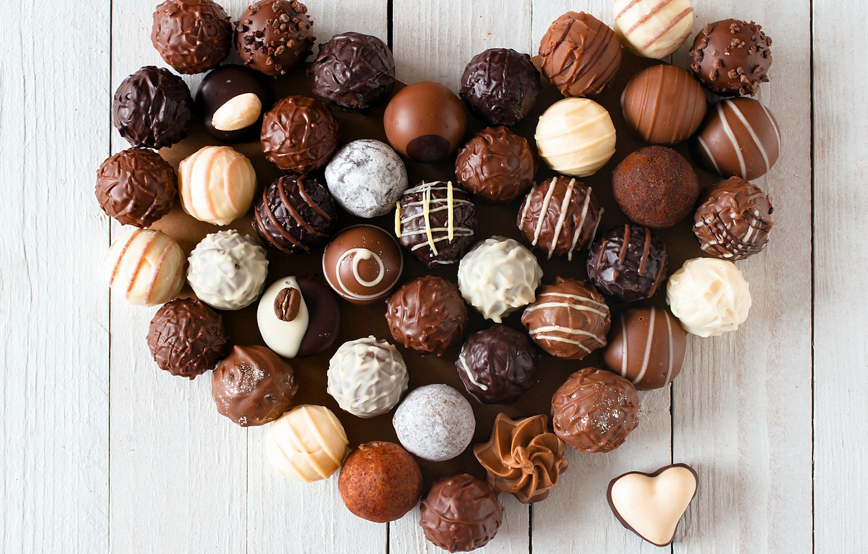 Photo wallpaper love, heart, chocolate, candy, love, heart, romantic, chocolate
