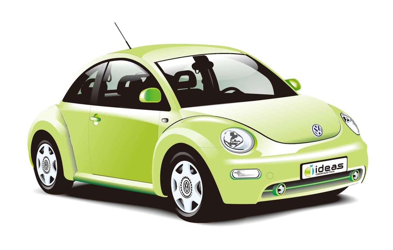 Photo wallpaper coupe, vector, Volkswagen, Beetle