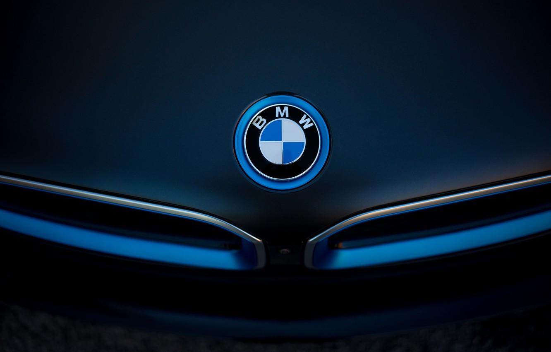 Photo wallpaper logo, emblem, Boomer, BMW i8