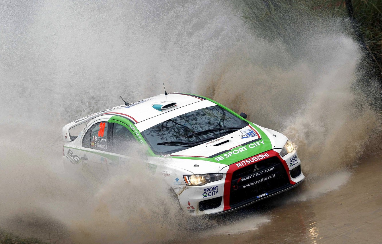 Photo wallpaper Auto, Race, Mitsubishi, Evo X, Lancer, Squirt, Argentina, WRC, Argentina, Rally, Rally