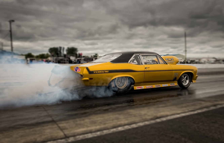 Photo wallpaper race, smoke, Chevrolet, Camaro, muscle car, Muscle car, Yenko, drag racing