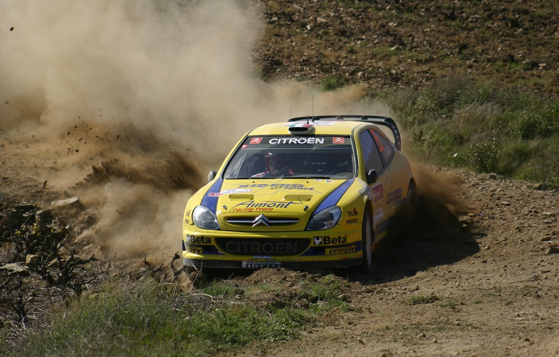Photo wallpaper Dust, Citroen, Citroen, WRC, Rally, Rally, Xsara, Galli