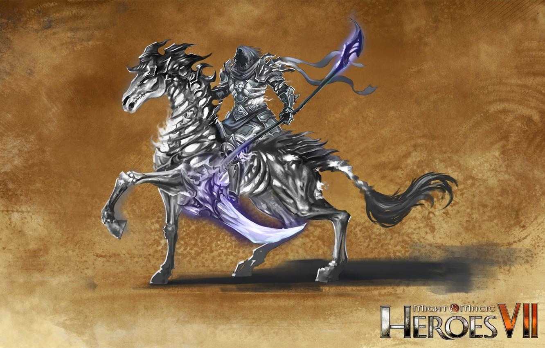 Photo wallpaper horse, necropolis, Heroes of Might and Magic 7, dark rycote