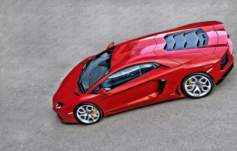 Photo wallpaper Lamborghini, Orange, Car, Design, LP700-4, Aventador, Static, Kahn