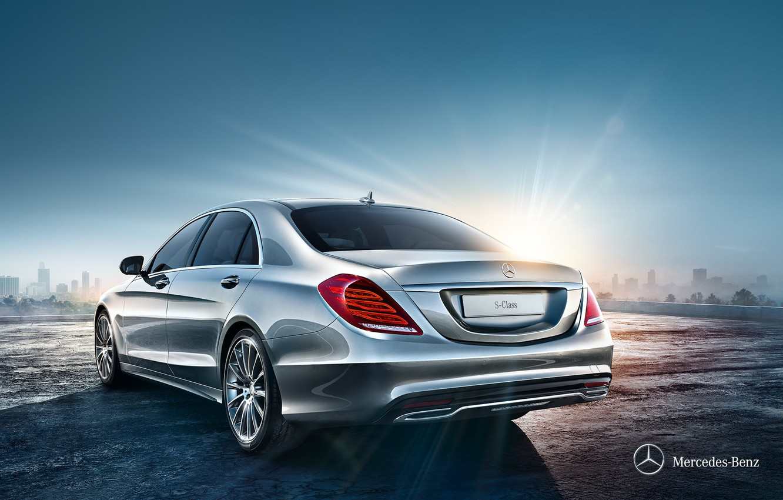 Photo wallpaper Mercedes-Benz, sedan, Mercedes, Sedan, 2013, S-Class, WV222