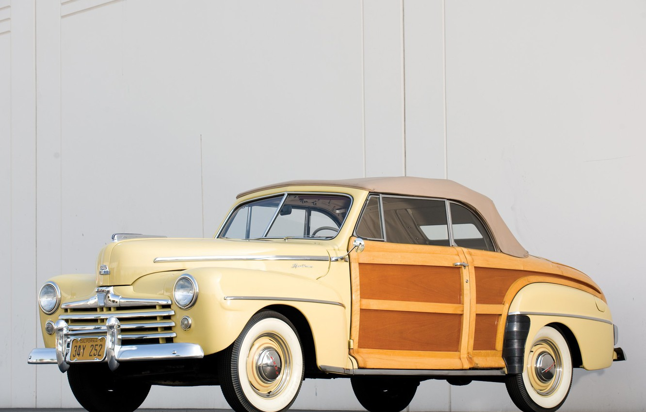 Photo wallpaper Ford, car, cars, classic, Super, 1948, Convertible, Deluxe, Sportsman
