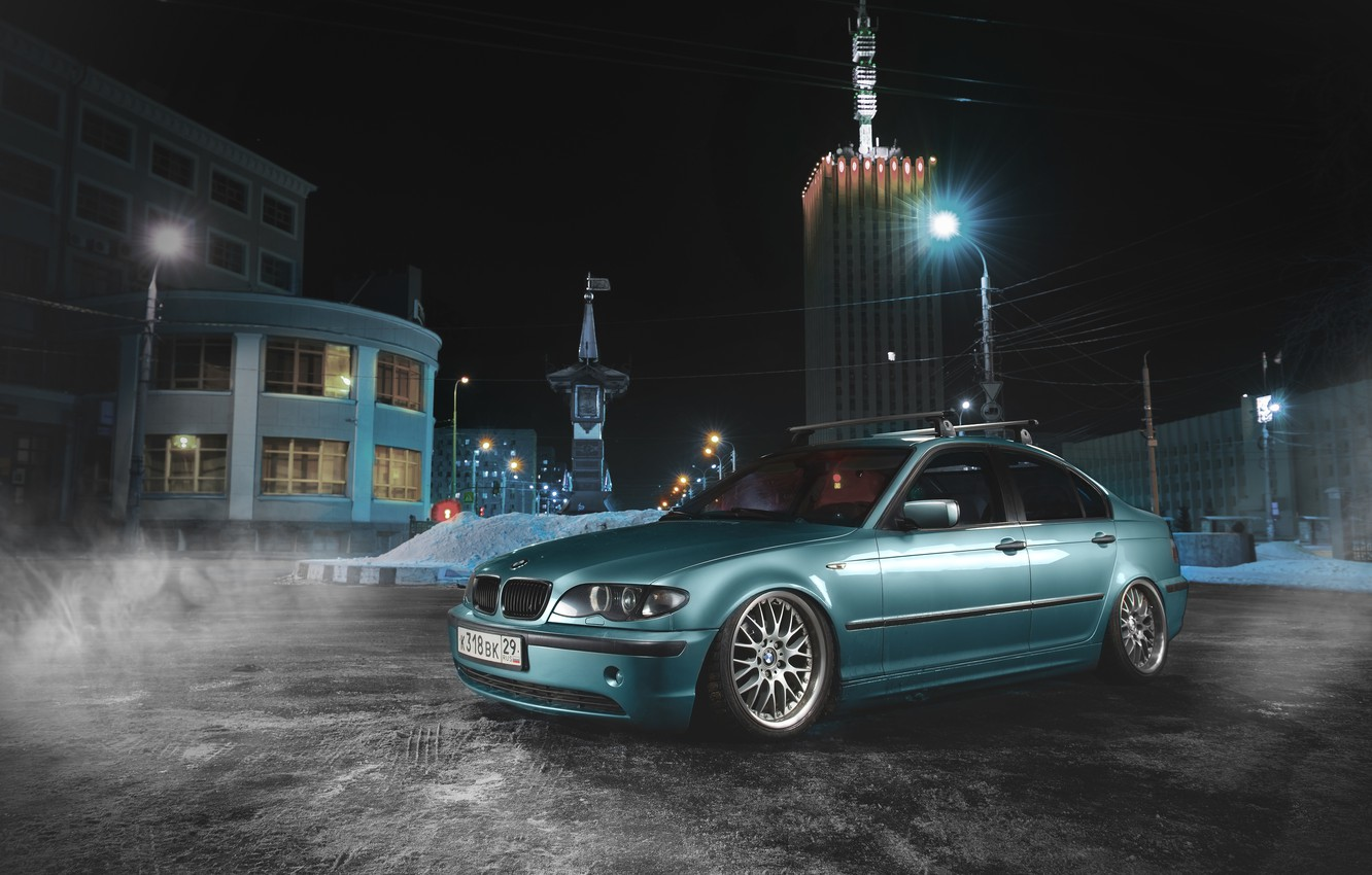 Photo wallpaper BMW, Blue, BMW, E46, 3 Series
