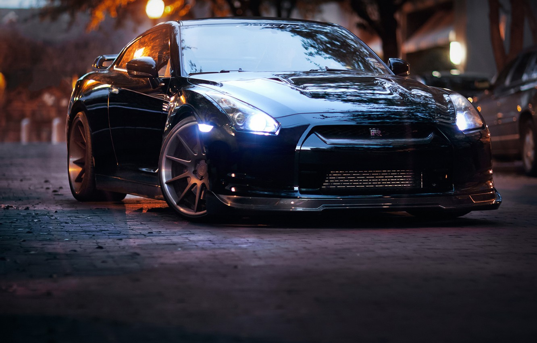Photo wallpaper Auto, Tuning, Street, GTR, Machine, Nissan, Drives