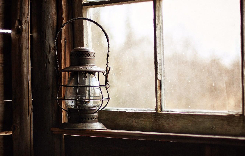 Photo wallpaper background, lamp, window