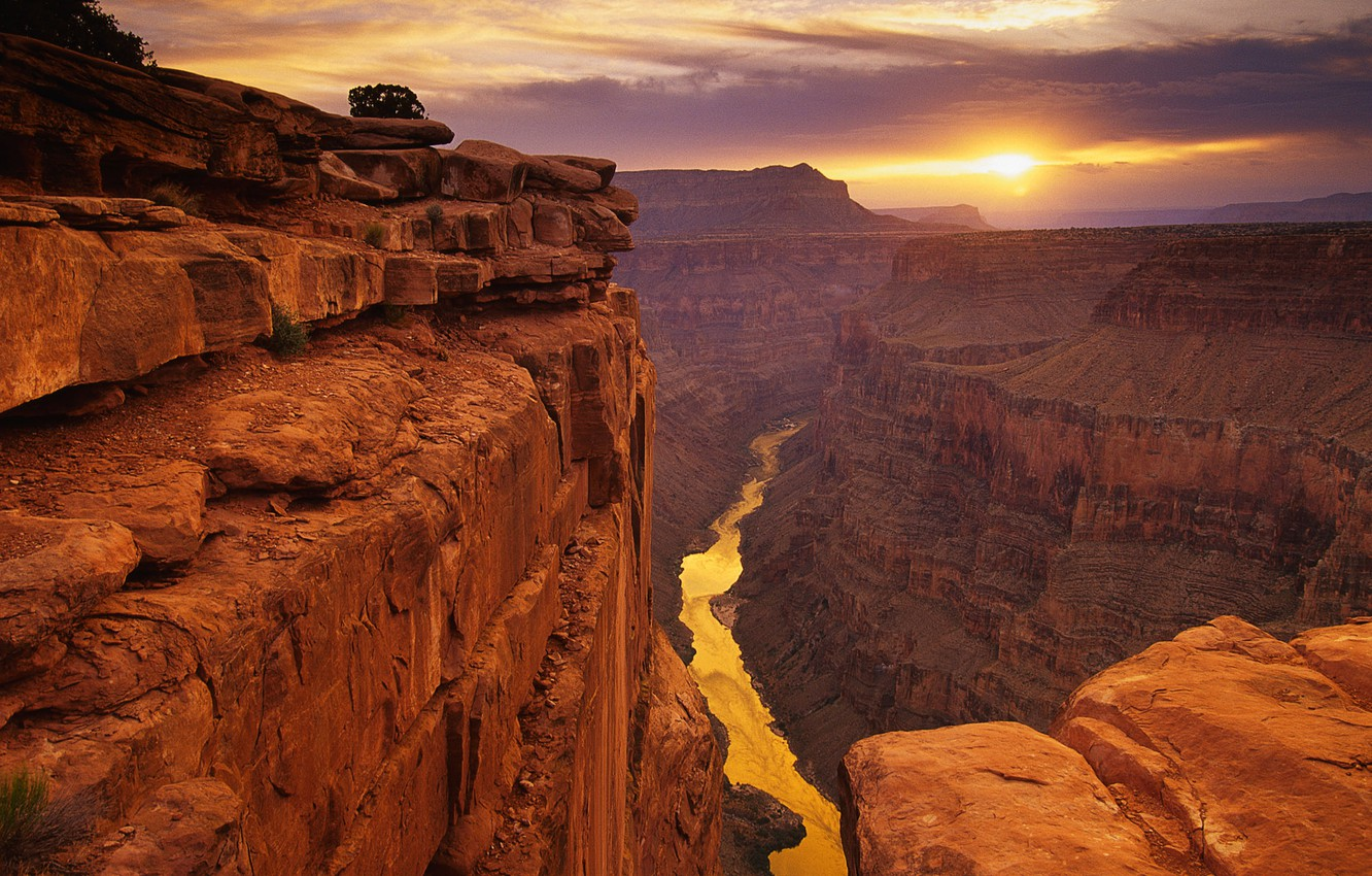 Photo wallpaper the sky, Canyon, United States