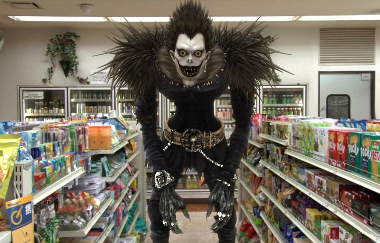 Photo wallpaper skull, monster, the series, Death note, Ryuk, the God of death