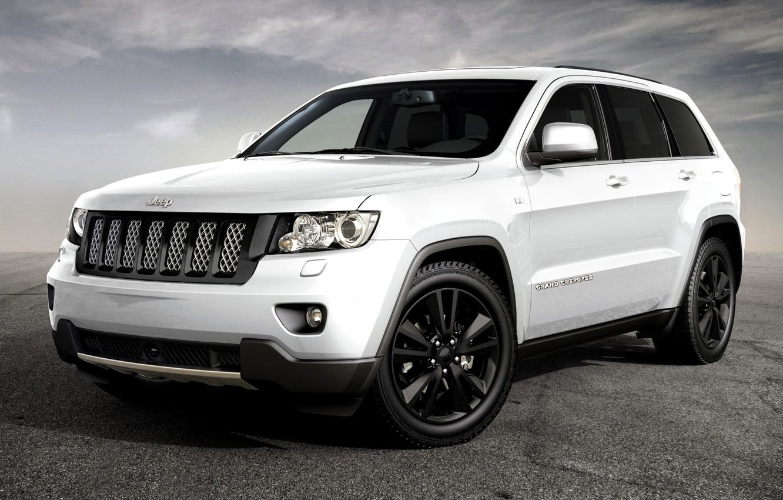 Photo wallpaper Concept, White, Sport, Machine, The concept, Desktop, Grand, Jeep, Car, 2012, Car, Beautiful, New, White, …