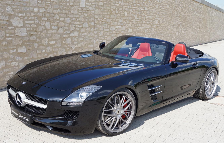 Photo wallpaper Roadster, Mercedes-Benz, Roadster, car, AMG, SLS, the front, Senner Tuning
