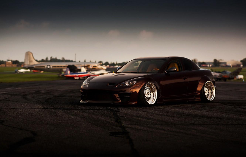 Photo wallpaper car, tuning, Mazda, Mazda, RX-8, stance, rx8