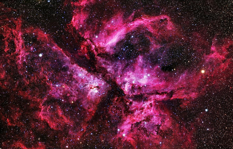 Photo wallpaper stars, nebula, nebula