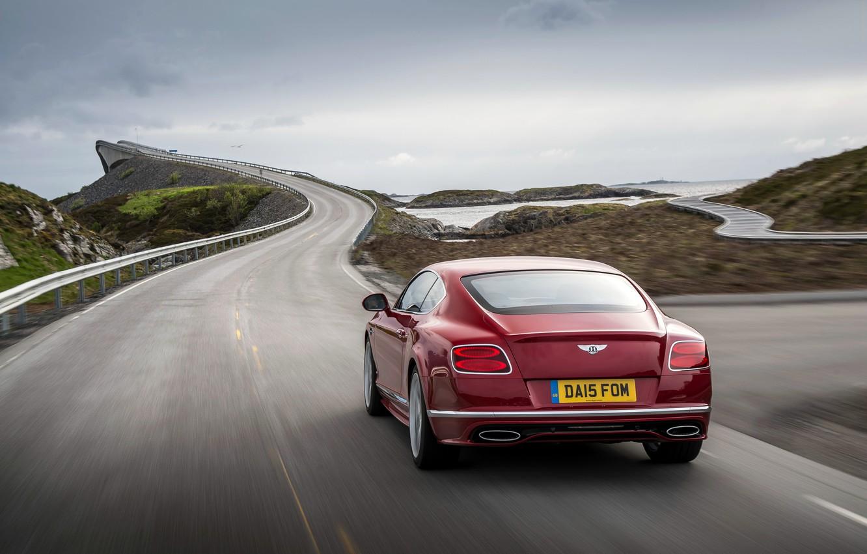 Photo wallpaper red, Bentley, Continental, Speed, Bentley, continental, 2015