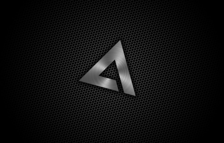 Photo wallpaper Minimalism, Logo, Texture, Black, AIMP