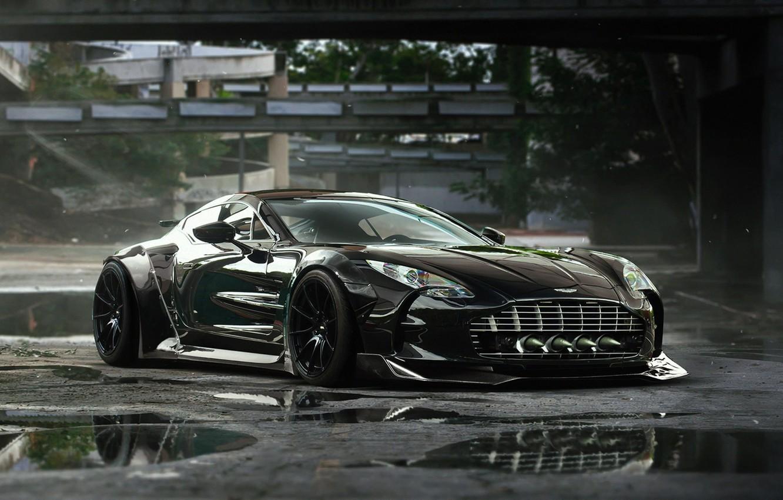 Photo wallpaper Aston Martin, Black, Tuning, Future, Supercar, ONE-77, by Khyzyl Saleem