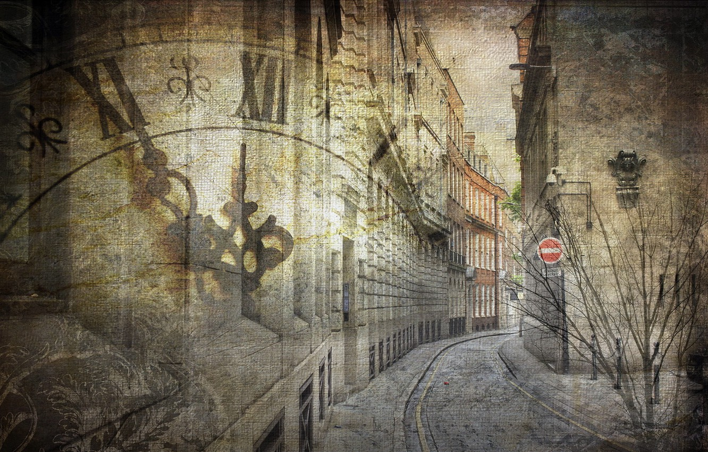 Photo wallpaper the city, street, texture
