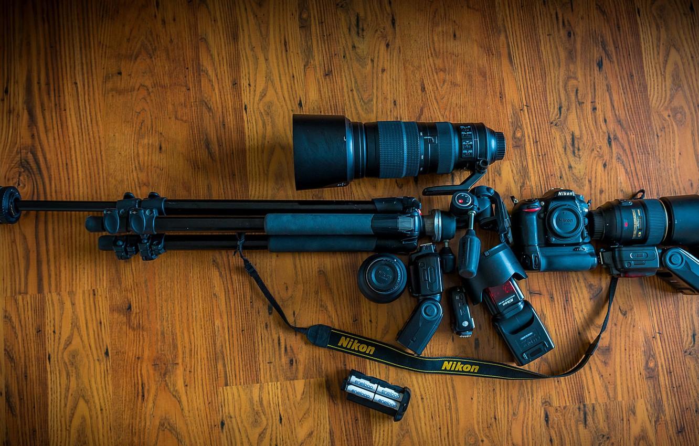 Photo wallpaper Nikon, Machine Gun, Gear
