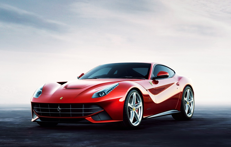 Photo wallpaper car, red, red, supercar, ferrari, f12