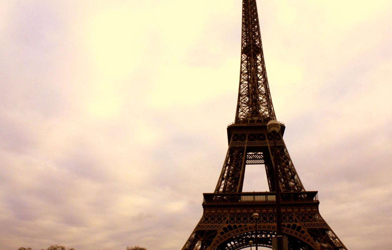 Photo wallpaper the sky, clouds, clouds, the city, Eiffel tower, building, Paris, home, France, paris, street, france