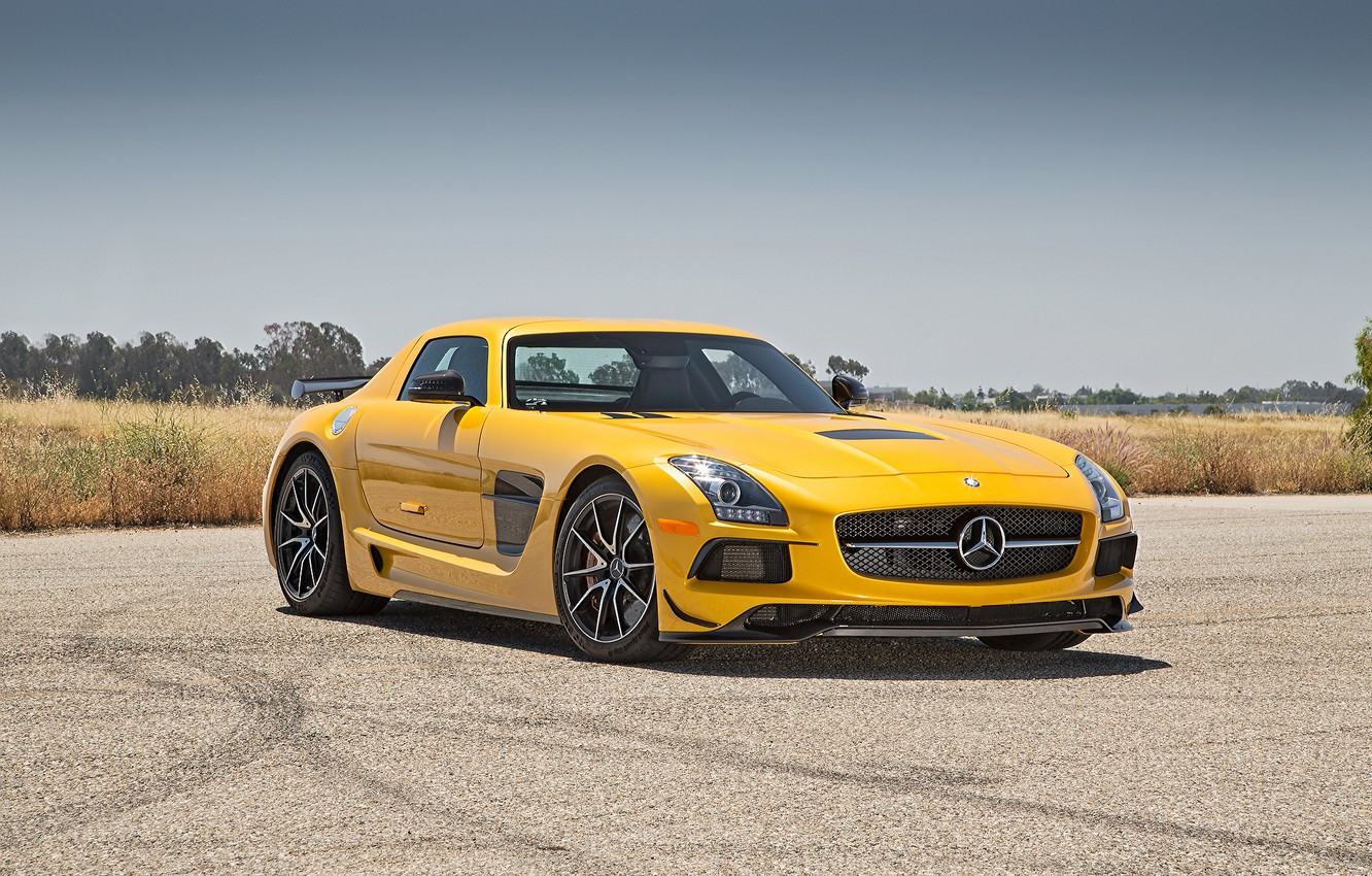 Photo wallpaper mercedes, sls, amg, black series