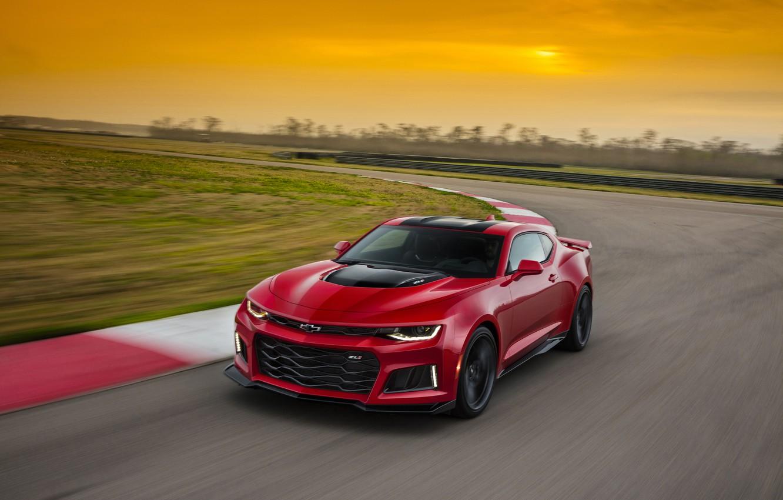 Photo wallpaper red, Chevrolet, Camaro, Chevrolet, Camaro, ZL1