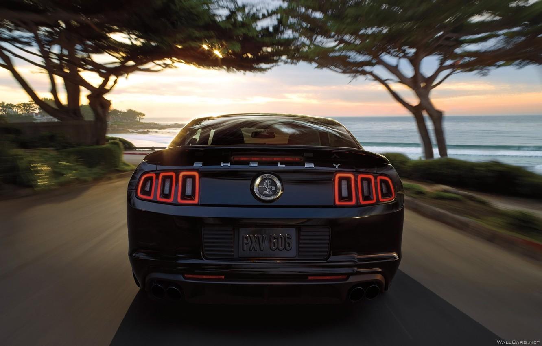 Wallpaper Road Black Speed Ford Mustang Images For Desktop