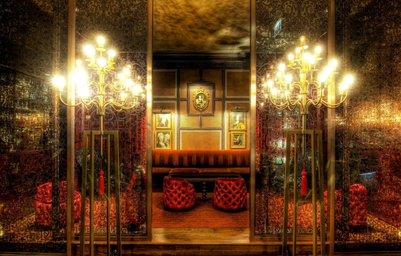 Photo wallpaper luxury, pictures, lighting, room decor