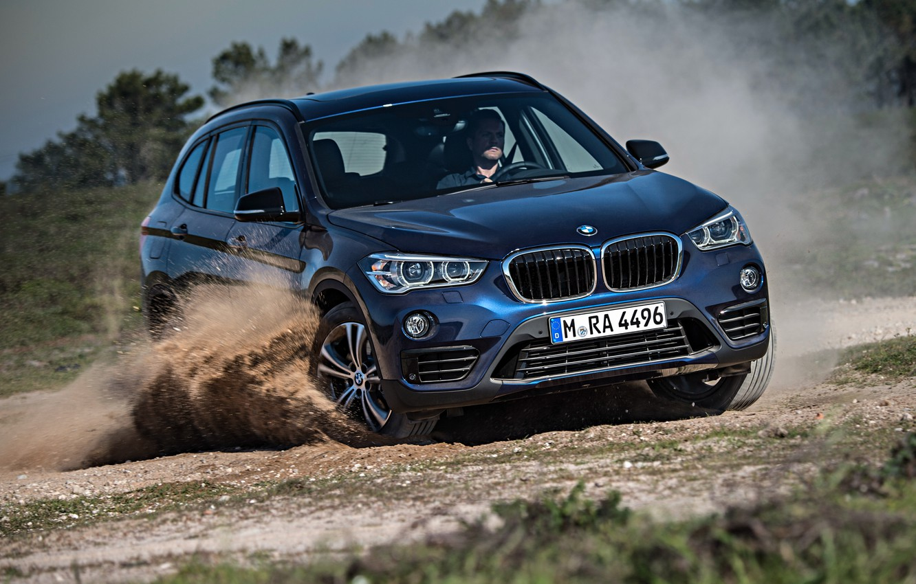 Photo wallpaper blue, BMW, BMW, skid, xDrive, SUV, Sport Line, 2015, F48