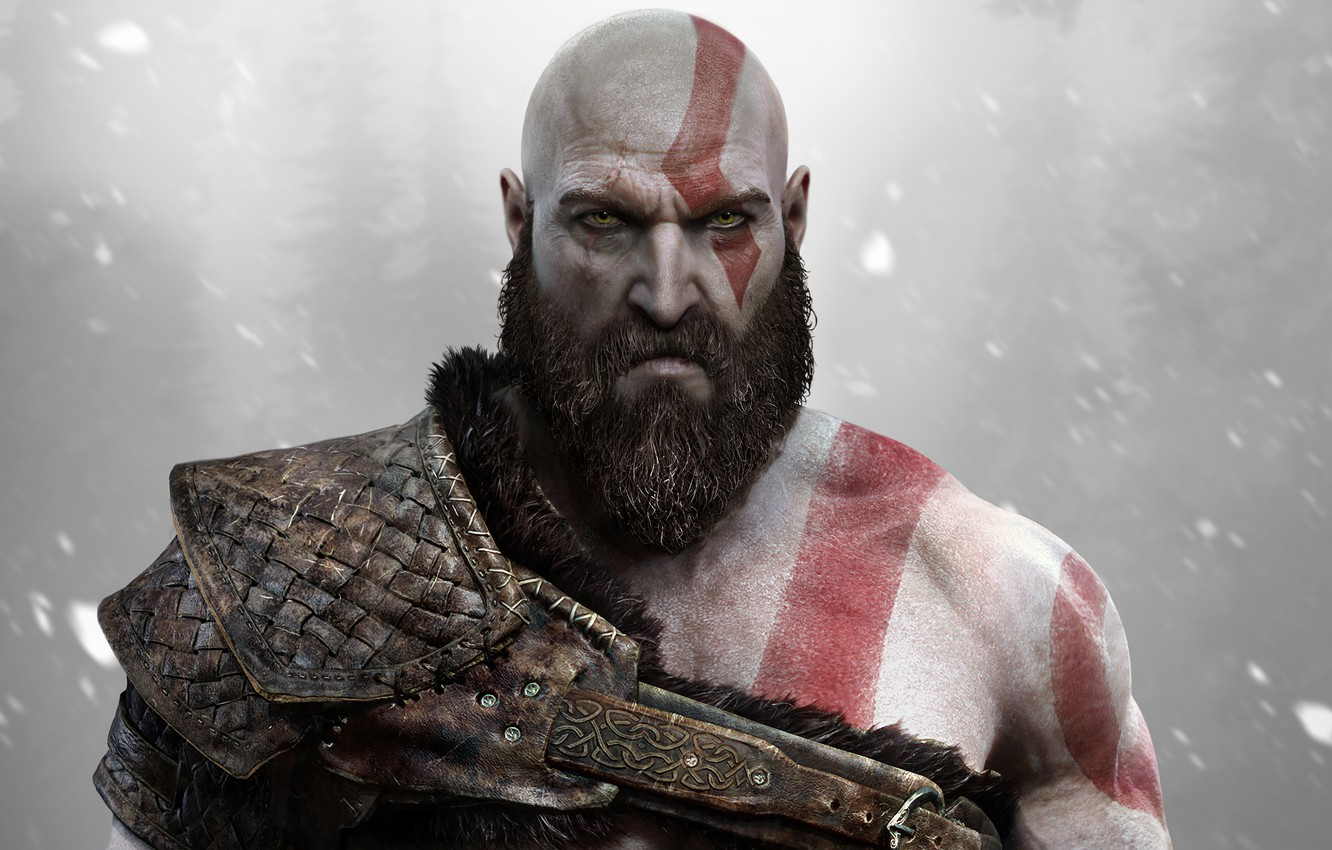 Photo wallpaper Kratos, God of War, Kratos, Sony Santa Monica, God of War (PS4)