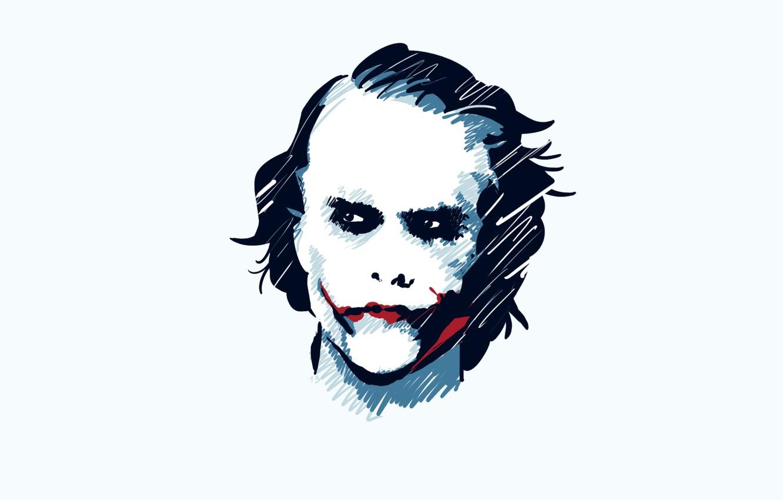 Photo wallpaper batman, joker, white wallpaper