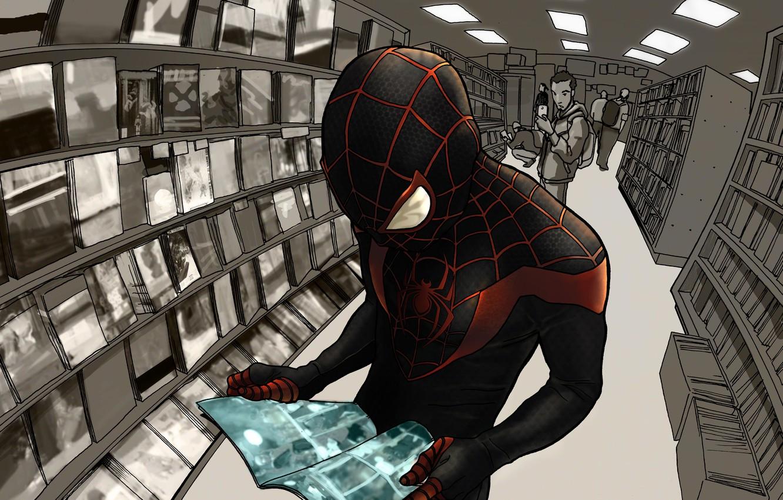 Wallpaper Costume Superhero Marvel Comics Spider Man Miles