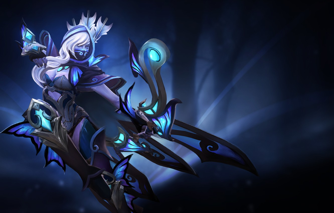 Wallpaper Girl Archer Art Dota 2 Drow Ranger Images For Desktop