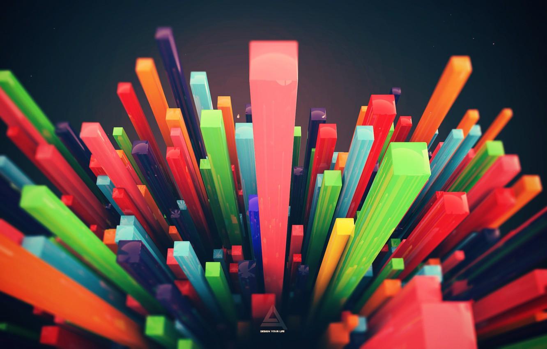 Photo wallpaper design, abstraction, render