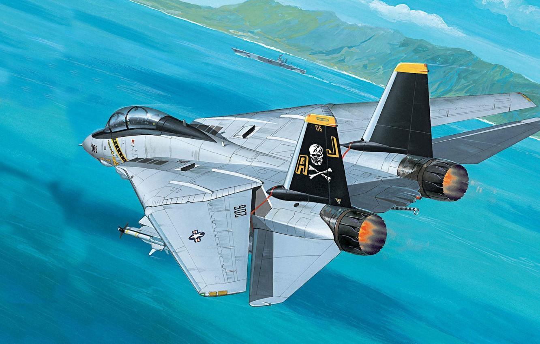 Wallpaper jet, fighter-bomber, Tomcat, F-14, the fourth