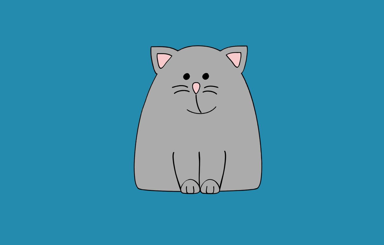 Photo wallpaper cat, cat, minimalism, cat