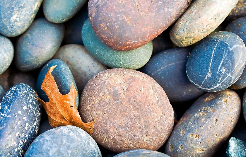 Photo wallpaper sheet, pebbles, stones, fallen