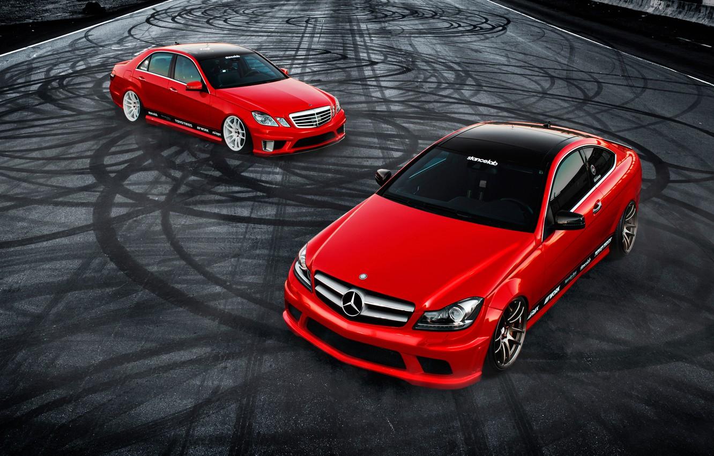 Photo wallpaper car, tuning, coupe, mercedes, sedan, Mercedes, tuning, rechange, C350, E350