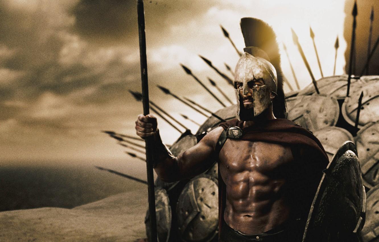 Photo wallpaper king, shields, Sparta, spears, 300, Leonid, Spartans
