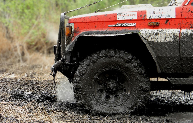 Photo wallpaper wheel, dirt, jeep, SUV, land cruiser, offroad, tlc