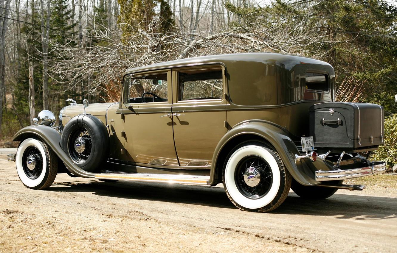 Photo wallpaper Lincoln, rear view, 1932, Sedan, 4-door, Model KB, Lincoln.retro
